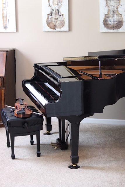 Violin with Yamaha piano
