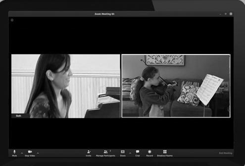 Online lessons at Elizabeth Sang Piano and Violin Studio